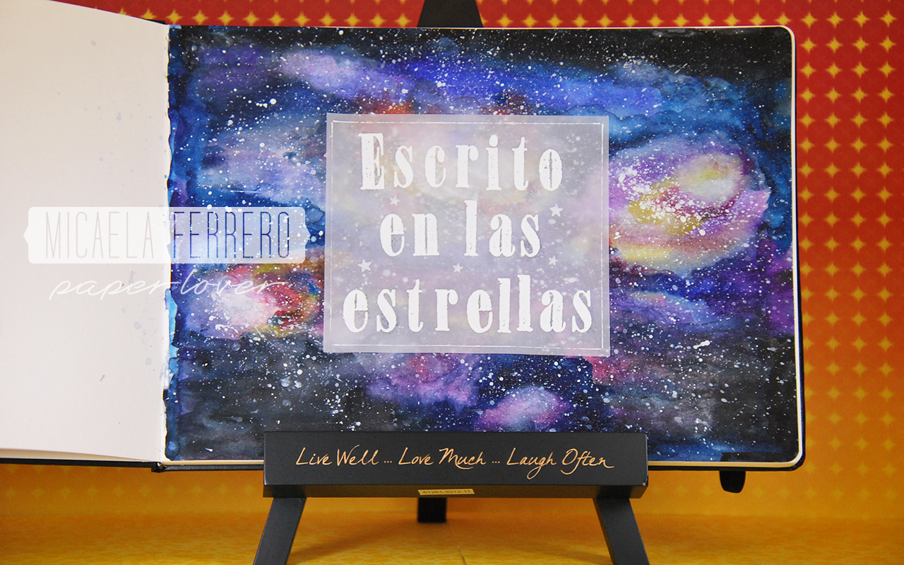 Art Journal Watercolor Escrito en las Estrellas