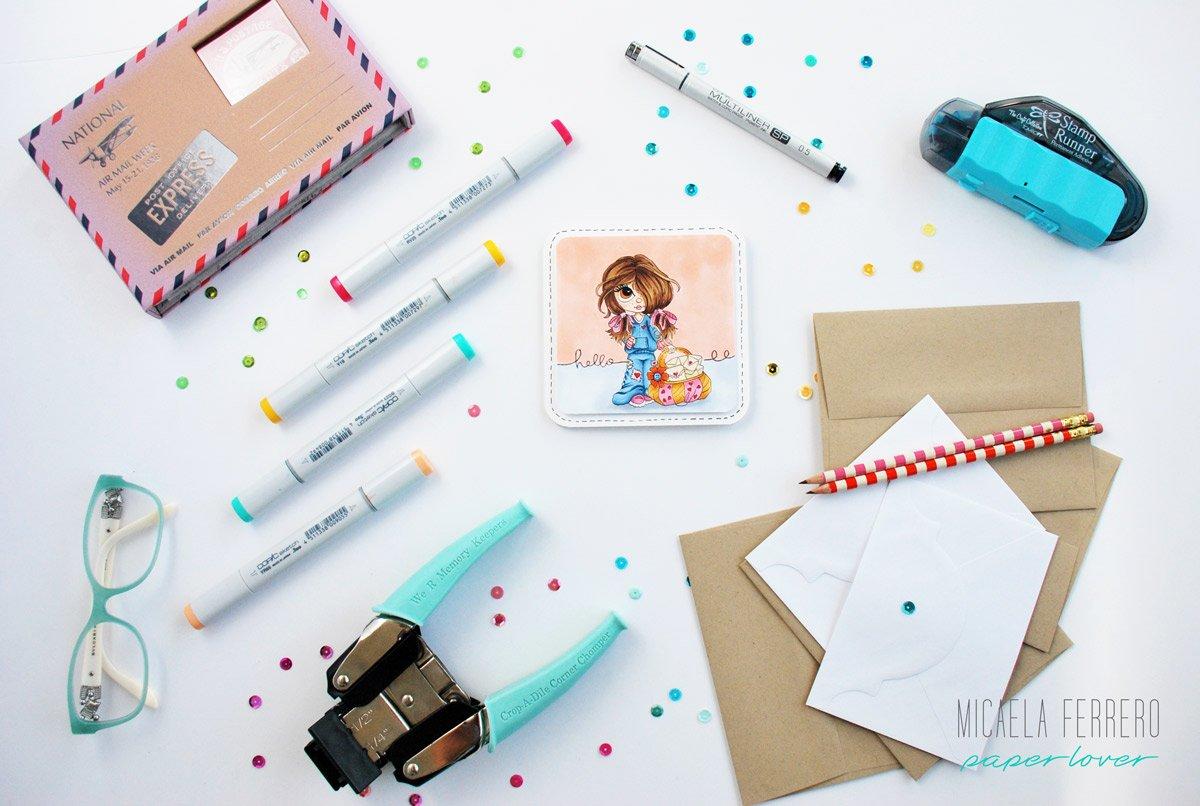 Tarjeta coloreando con Copic Markers de nuevo en acción !